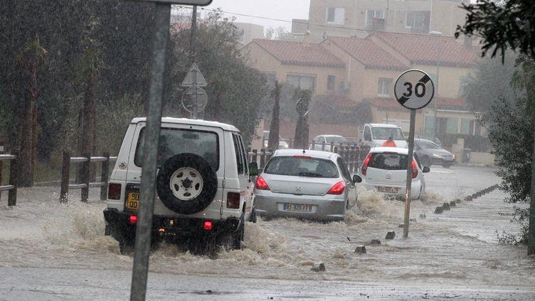 A Rivesaltes, les conditions de circulation ont été fortement perturbées. (MAXPPP)
