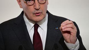 Le Premier ministre Jean Castex lors d'une conférence de presse à Paris, le 18 mars 2021. (MARTIN BUREAU / AFP)
