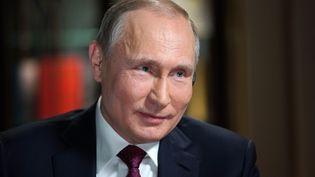 Vladimir Poutine, le 1er mars 2018 à Moscou. (ALEXEI DRUZHININ / SPUTNIK / AFP)