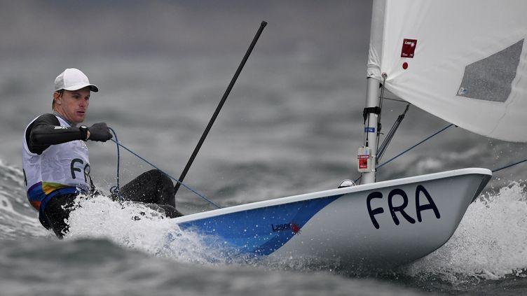 Jean-Baptiste Bernaz s'est bien battu (WILLIAM WEST / AFP)