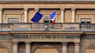 La façade du Conseil d'Etat, à Paris, le 13 juillet 2020. (MANUEL COHEN / AFP)