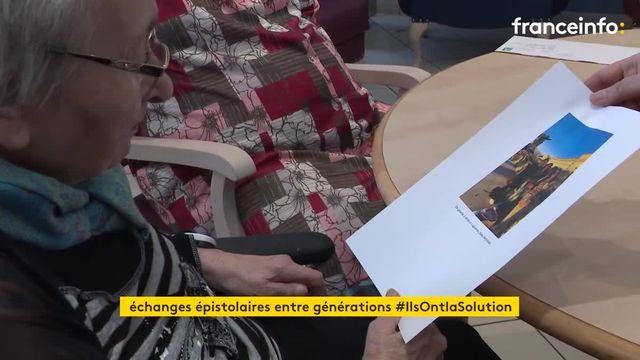 Des résidents en Ehpad d'Auverge échangent des lettres avec des étudiants pour rompre l'isolement