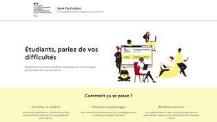 Capture d'écran du site gouvernemental Santé Psy Etudiant, qui a été mis en ligne le 10 mars 2021. (SANTEPSY.ETUDIANT.GOUV.FR)