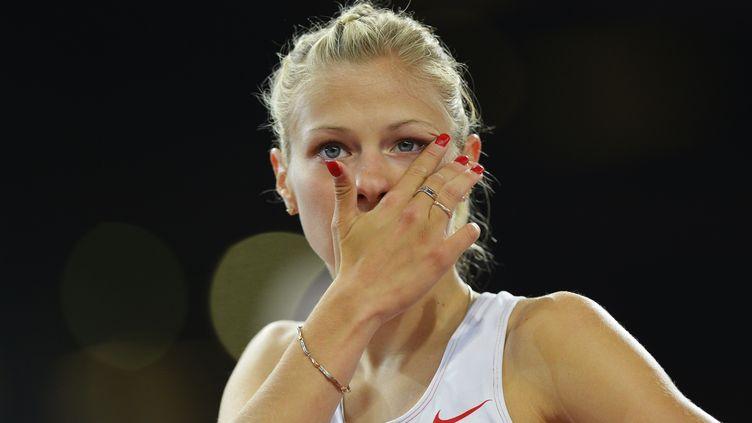 La sprinteuse russe Margarita Goncharova aux Jeux paralympiques de Londres (Royaume-Uni), le 6 septembre 2012. (LEON NEAL / AFP)
