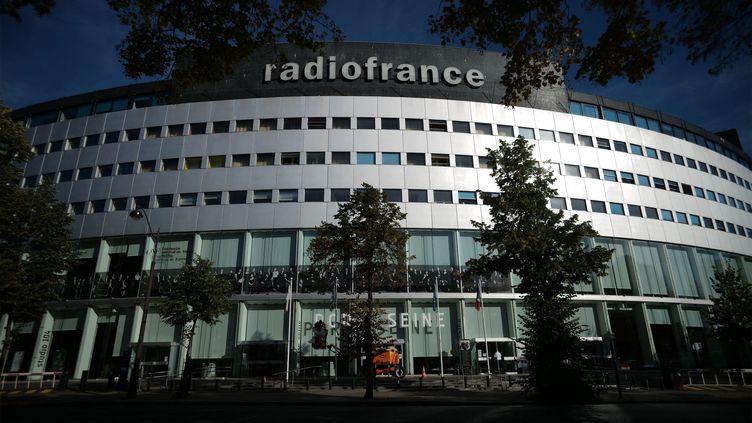 La façade de la Maison de la radio à Paris. (CHRISTOPHE ABRAMOWITZ / RADIOFRANCE)