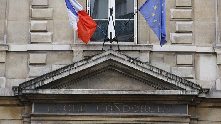 (Le lycée Condorcet à Paris IXe avait fait l'objet d'une fausse alerte à la bombe © MaxPPP)