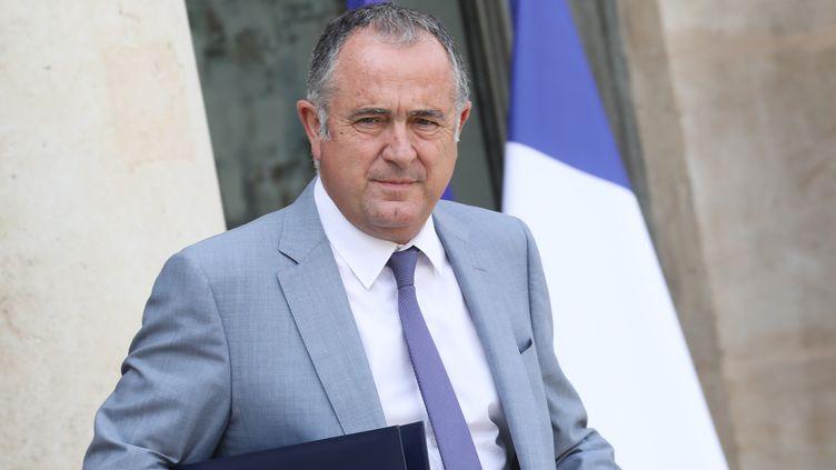 Le ministre de l'Agriculture, Didier Guillaume, le 28 août 2019, à l'Elysée. (LUDOVIC MARIN / AFP)