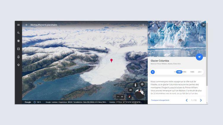 La fonctionnalité Timelapse de Google Earth. (GOOGLE)