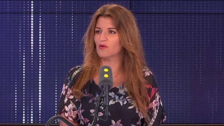 Marlène Schiappa,secrétaire d'État chargée de l'Égalité entre les femmes et les hommes et de la Lutte contre les discriminations, invitée de franceinfo le mardi 27 août 2019. (FRANCEINFO / RADIOFRANCE)