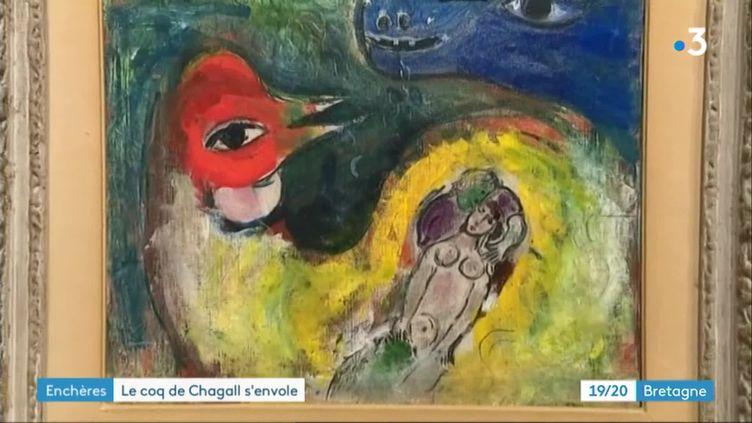 """""""Le coq aux amoureux"""" de Marc Chagall, vendu à Brest (France 3 Bretagne)"""