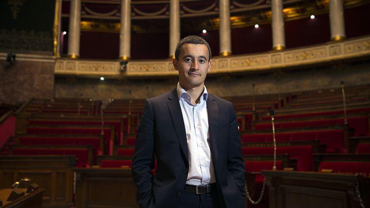 Gérald Darmanin, le 23 septembre 2014 à l'Assemblée nationale. (JOEL SAGET / AFP)