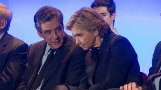 François Fillon et Valérie Pécresse, le 24 février 2017 lors d'un meeting à Maisons-Alfort (Val-de-Marne). (MAXPPP)