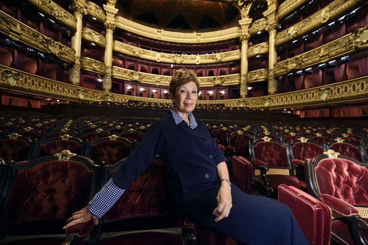 L'ancienne directrice de la Danse Brigitte Lefèvre à l'Opéra Garnier, ici en septembre 2014.  (ERIC FEFERBERG / AFP)