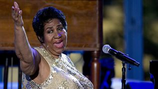 Aretha Franklin à la Maison Blanche en 2016  (Carolyn Kaster/AP/SIPA)