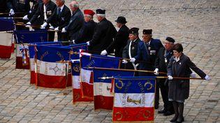Cérémonie aux Invalides pour les vétérans harkis tombés en Algérie, àParis, le 25 septembre2012. (CITIZENSIDE.COM / AFP)
