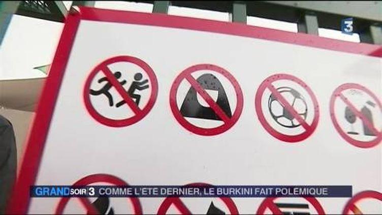 Le port du burkini interdit à Lorette (Loire) (France 3)