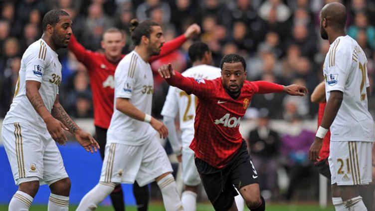 Evra (Manchester United) buteur contre Swansea (PAUL ELLIS / AFP)