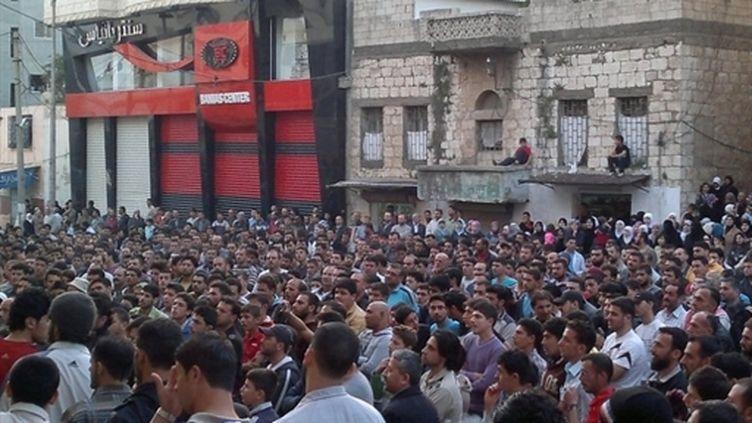 Manifestants à Banias, Syrie (4 mai 2011) (AFP)