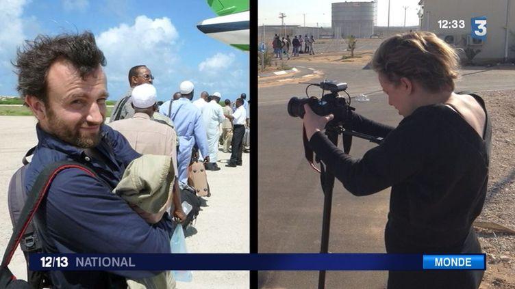 Thomas Dandois et Valentine Bourrat, journaliste pour la chaîne de télévision Arte, sont retenus en Indonésie depuis le 6 août. ( FRANCE 3 / FRANCETV INFO)
