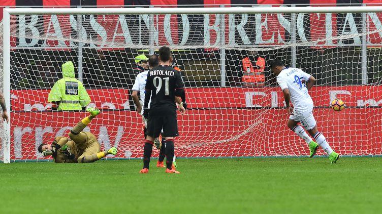Luis Muriel a inscrit le seul but du match sur penalty (GIUSEPPE CACACE / AFP)
