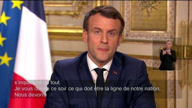 """Coronavirus : Emmanuel Macron appelle les Français à être """"solidaires"""""""