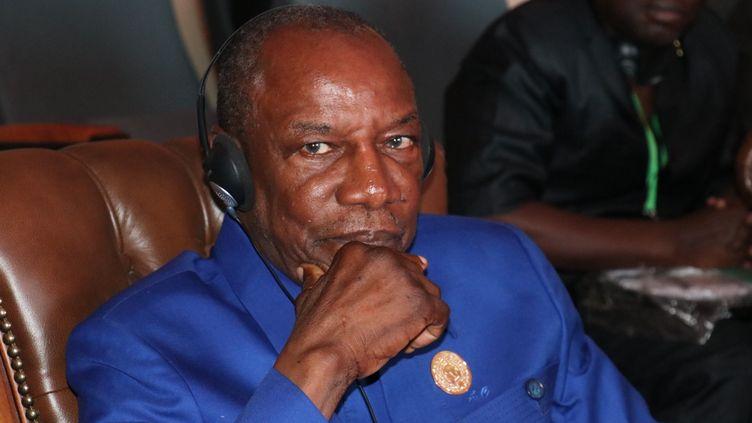 Le président guinéen Alpha Condé lors du 31e sommet de l'Union africaine à Nouakchott, en Mauritanie, le 2 juillet 2018. (ALAATTIN DOGRU / ANADOLU AGENCY)