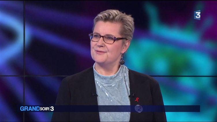 La chercheuse de l'Institut Pasteur Elisabeth Menu (France 3)