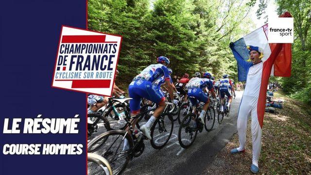 Championnats de France de cyclisme sur route : le résumé de la course en ligue élite hommes