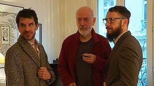 Le duo Cabadzi et Bertrand Blier,chez le cinéaste à Paris  (culturebox - capture d'écran)