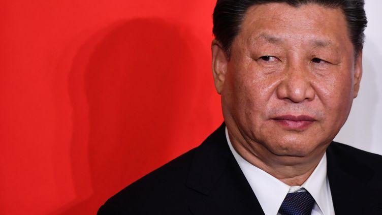 Le président chinois Xi Jinping, le 23 mars 2019, en Italie. (ALBERTO PIZZOLI / AFP)