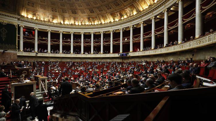 L'Assemblée nationale, le 29 novembre 2017. (PATRICK KOVARIK / AFP)