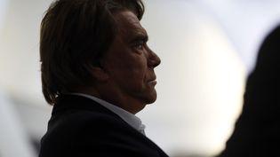 Bernard Tapie, avant un entretien télévisé, le 10 juillet 2013 à Paris. (FRED DUFOUR / AFP)