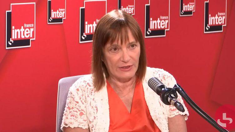Marie-Paule Kieny, vaccinologue, présidente du comité scientifique vaccin, sur France Inter, le 15 septembre 2020. (FRANCEINTER / RADIOFRANCE)