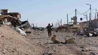 Un combattant kurde dans la ville de Sinjar (Irak) le 13 novembre 2015. (BRAM JANSSEN / AP / SIPA)