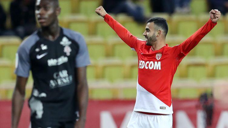 Rachid Ghezzal, buteur pour Monaco contre Metz (VALERY HACHE / AFP)
