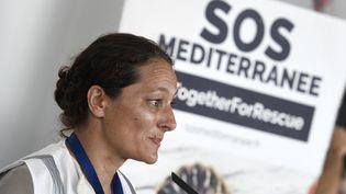 Sophie Beau, directrice générale de SOS Méditerranée, le 17 juin 2018 à Valence, en Espagne. (JOSE JORDAN / AFP)