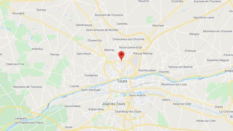 Le stade du Danemark à Tours (Indre-et-Loire) (GOOGLE MAPS)