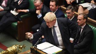 Le Premier ministre britannique, Boris Johnson, le 23 octobre 2019 à la Chambre des communes, à Londres (Royaume-Uni). (JESSICA TAYLOR / AFP)