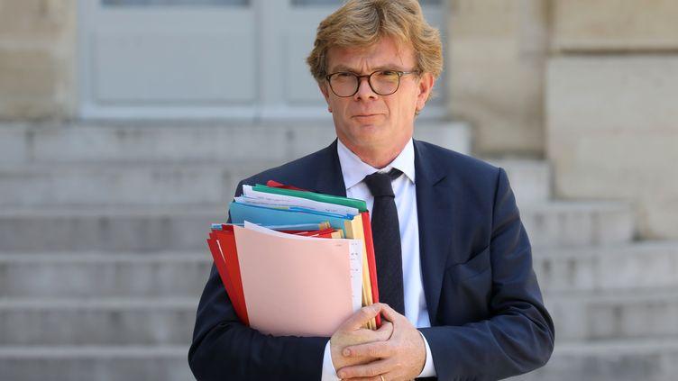Le ministre chargé des relations avec le ParlementMarc Fesneau, à l'Élysée, le 10 juillet 2019. (LUDOVIC MARIN / AFP)