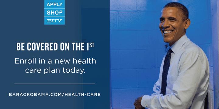 En février 2014, l'administration Obama lance une campagne nationale dans le but qu'un maximum d'Américains prennent une assurance maladie. (Compte Facebook officiel de Barack Obama)