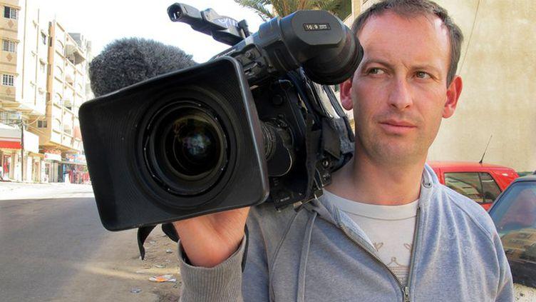 Le journaliste Gilles Jacquier, dans un document diffusé par France Télévisions. (REUTERS)