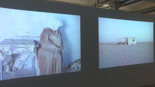 """L'exposition """"En attendant Omar Gatlato""""présente vingt-neuf artistes d'Algérie et de la diaspora algérienne. (FRANCEINFO)"""