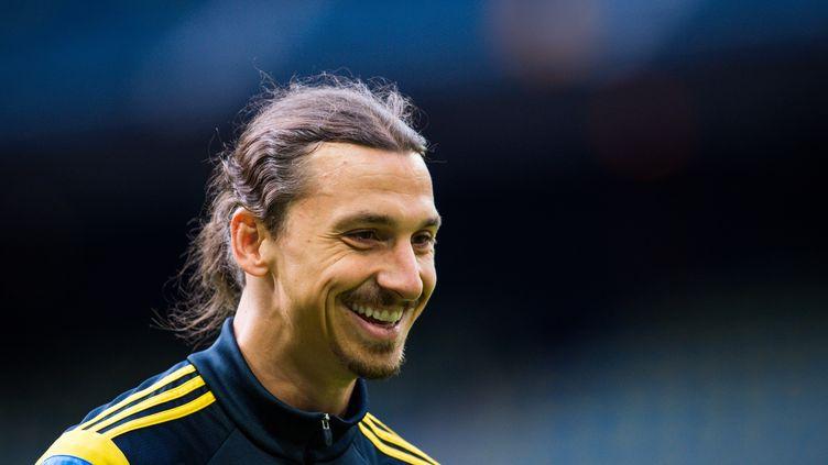 Zlatan Ibrahimovic s'est entraîné normalement avec sa sélection hier après-midi. (JONATHAN NACKSTRAND / AFP)