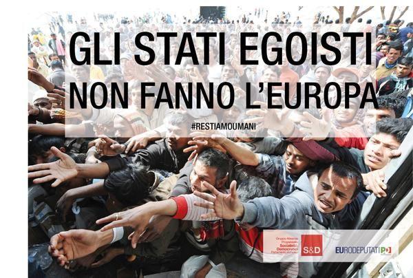 """Une affiche du Parti démocrate italien : """"Les Etats égoïstes ne font pas l'Europe. (PARTITO DEMOCRATICO / DR)"""