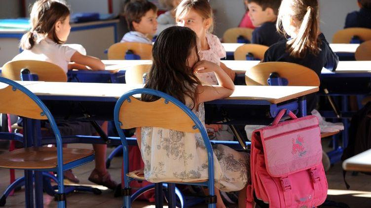 Dans une classe de l'école primaire Jean-Mermoz à Marseille (Bouches-du-Rhône), le 4 septembre 2012. (ANNE-CHRISTINE POUJOULAT / AFP)