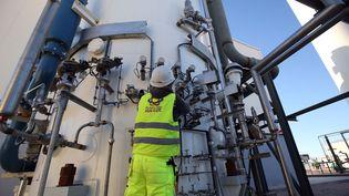 Inauguration de lanouvelle usine de production de gaz industriel liquéfié de la société privée Calgaz dans le sud de l'Algérie, le 14 janvier 2019. (BILLAL BENSALEM / NURPHOTO)
