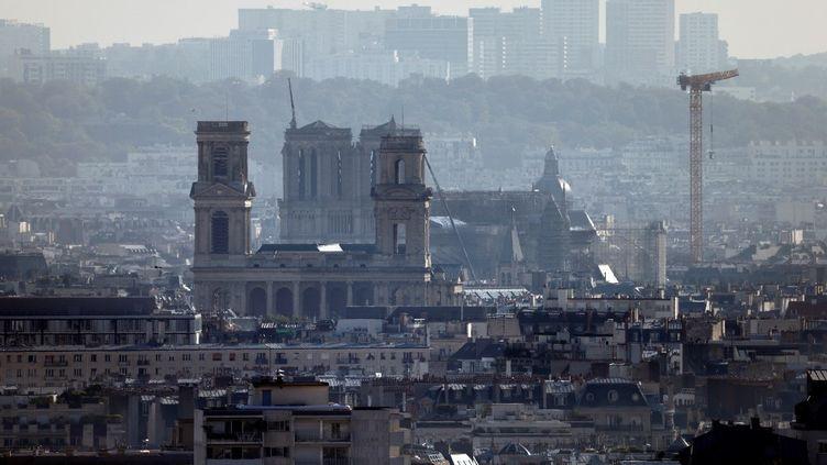 Une vue aérienne de Paris, le 15 septembre 2020. (THOMAS COEX / AFP)