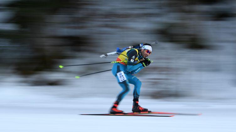 Martin Fourcade à pleine vitesse (CHRISTOF STACHE / AFP)