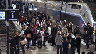 Des passagers à la gare de Lyon, àParis, le 1er novembre 2012. (FRANÇOIS GUILLOT / AFP)