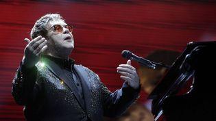 Elton John sur scène à l'Allianz Parque de Sao Paulo, le 6 avril 2017  (WERTHER SANTANA / AGÊNCIA ESTADO)